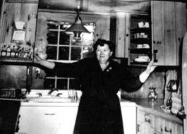 Gladys Taber in the kitchen