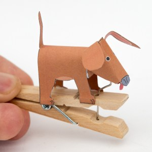 Peg Dog – Junk Automata to Download and Make
