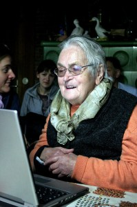 Older woman on a computer