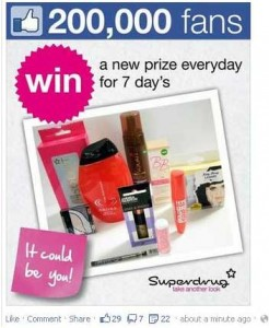 Superdrug Facebook ad