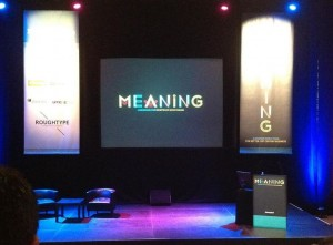 The stage at Meaning 2012