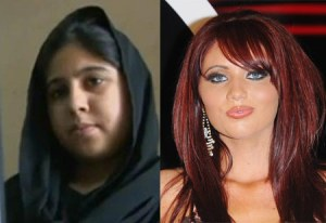 Hina Khan and Amy Childs