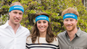 Duke & Duchess of Cambridge and Prince Harry promoting mental health charity Headstogether