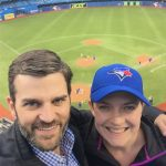 Rob & Beth at a Blue Jays game.