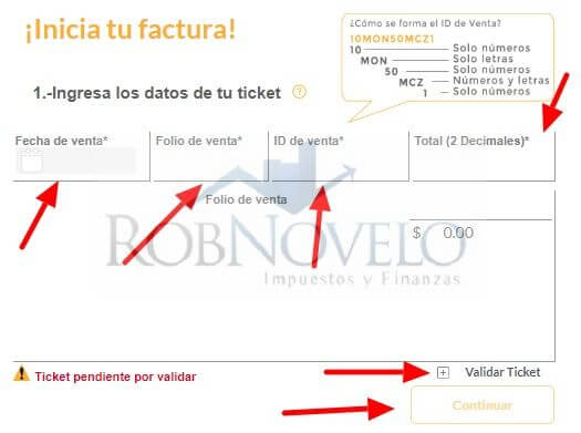 facturacion ticket oxxo