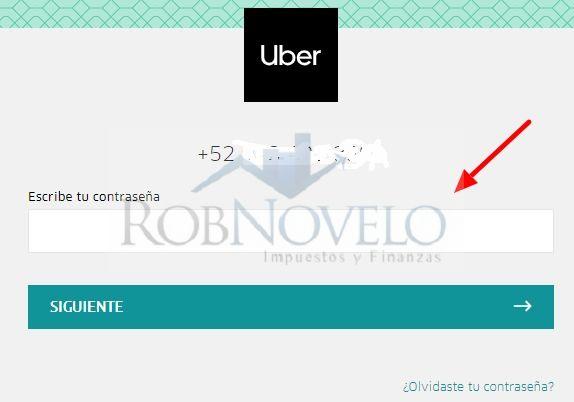 facturacion ticket uber