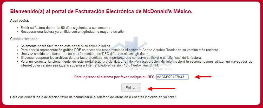 facturacion mcdonalds