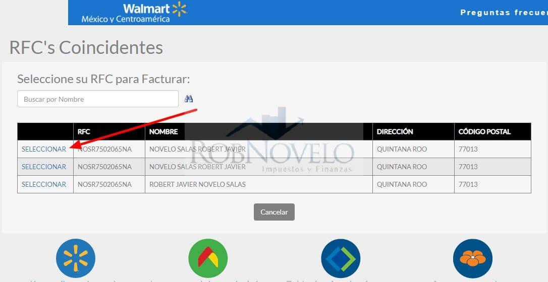 facturacion ticket walmart