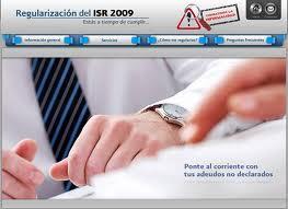 regularizacion isr 2009