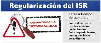 regularizacion isr 2010
