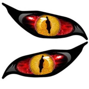 Aufkleber für Rasenroboter- Evil, Teufel, Augen