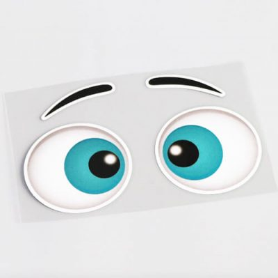 Aufkleber, Sticker, Eyes -Cartoon Vs 1 Bild 4