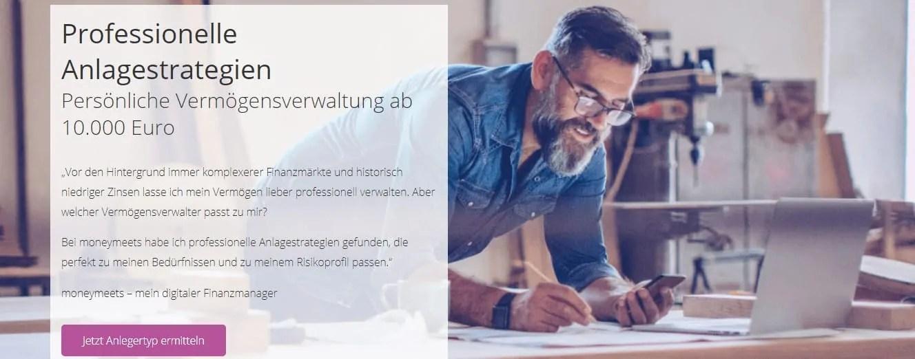 Moneymeets - Online-Marktplatz für Anlagestrategien