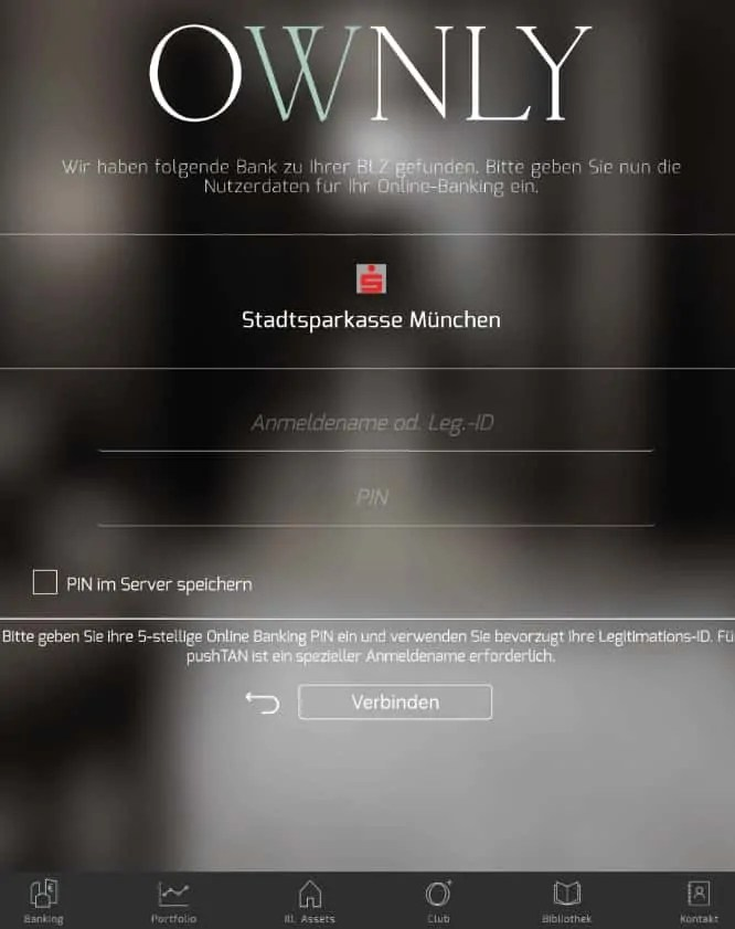 Ownly App Anmeldung