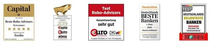 Zeedin-Hauck-Aufhäuser-Auszeichnungen