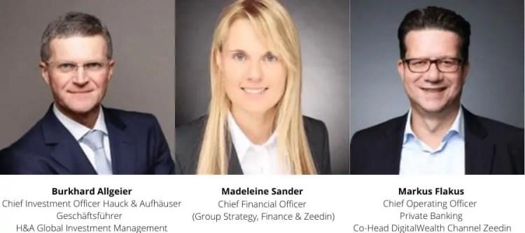 Zeedin - Hauck & Aufhäuser Management Team