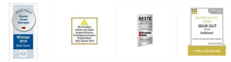Solidvest-Auszeichnungen der Online-Vermögensverwaltung