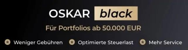 OSKAR Black - das VIP Angebot für Anleger