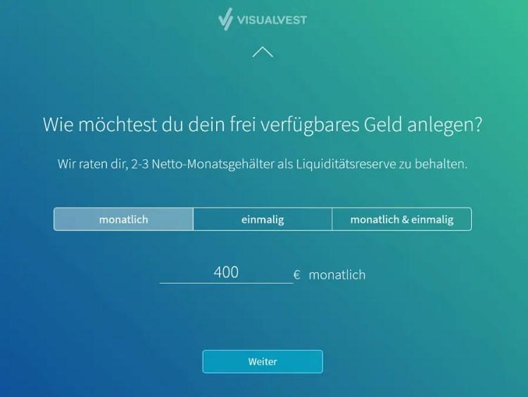 Visualvest Test - Start Onboarding