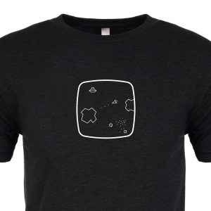 Space Rocks Premium Tee :: Cropped :: ARCADE VISIONS Series :: Robots And Rocketships
