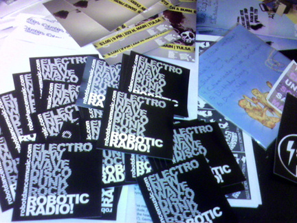 Robotic Radio stickers!