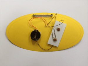 Black wires soldered to LEDs.