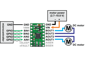 DRV8833 Dual Motor Driver Carrier (12A and low voltage)