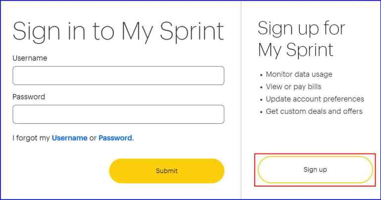 Sprint Signup | roboticplanet.co