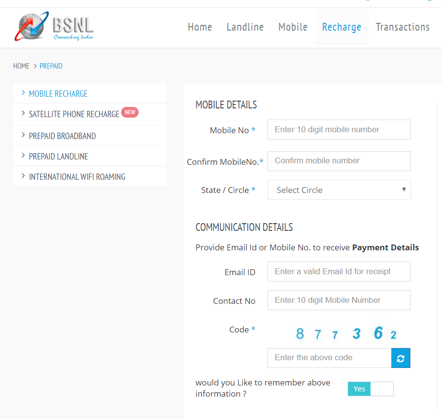Recharge BSNL Prepaid Number | roboticplanet.co