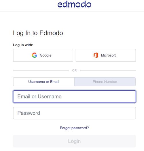 edmodo login