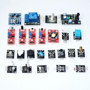 H021 24 Pezzi Sensore Kit Sensore Pulsante Temperatura Color Modulo Kit per Arduino