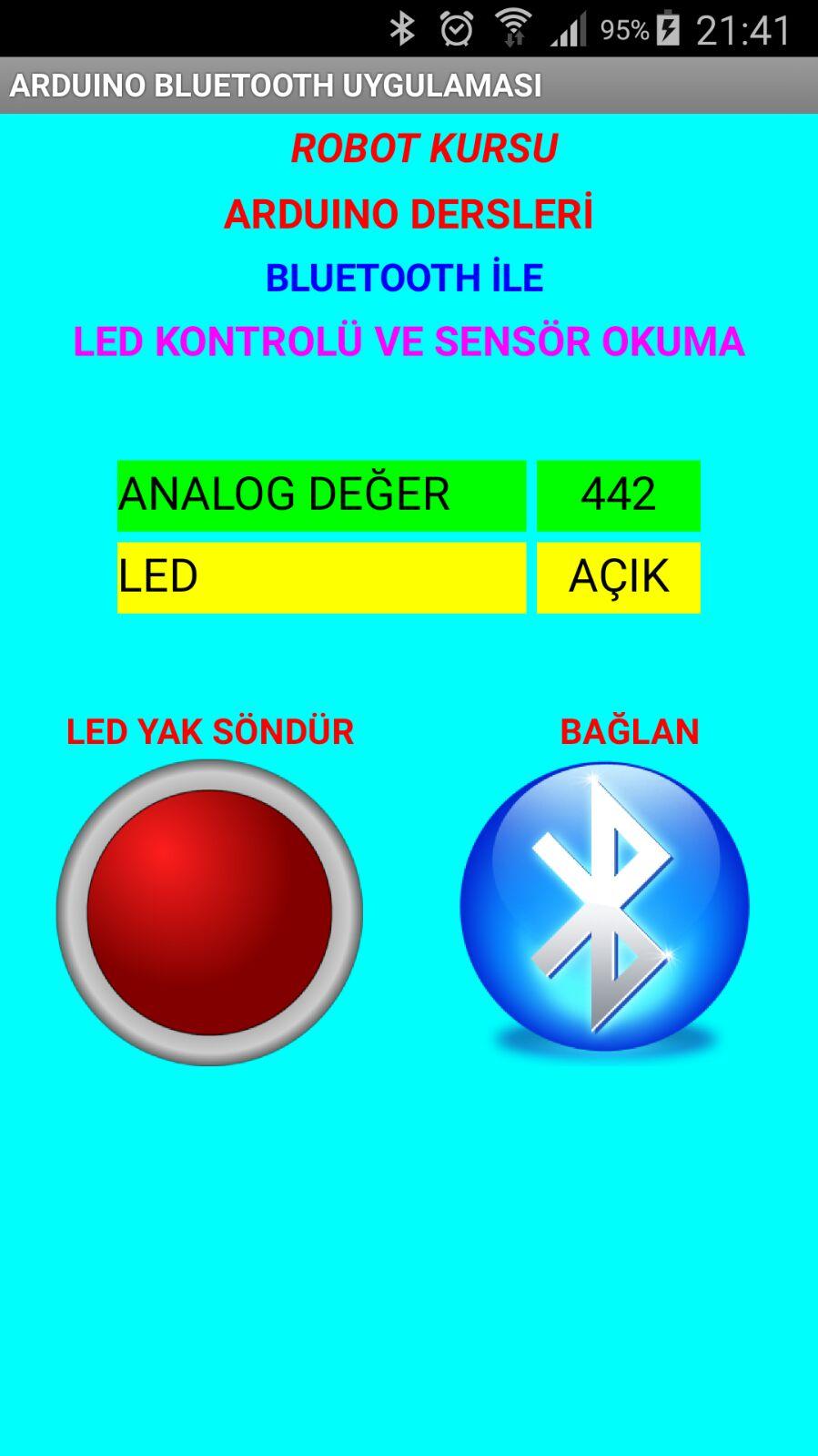Ders 34: HC 05 bluetooth modülü kullanımı (Android ten değer okuma)