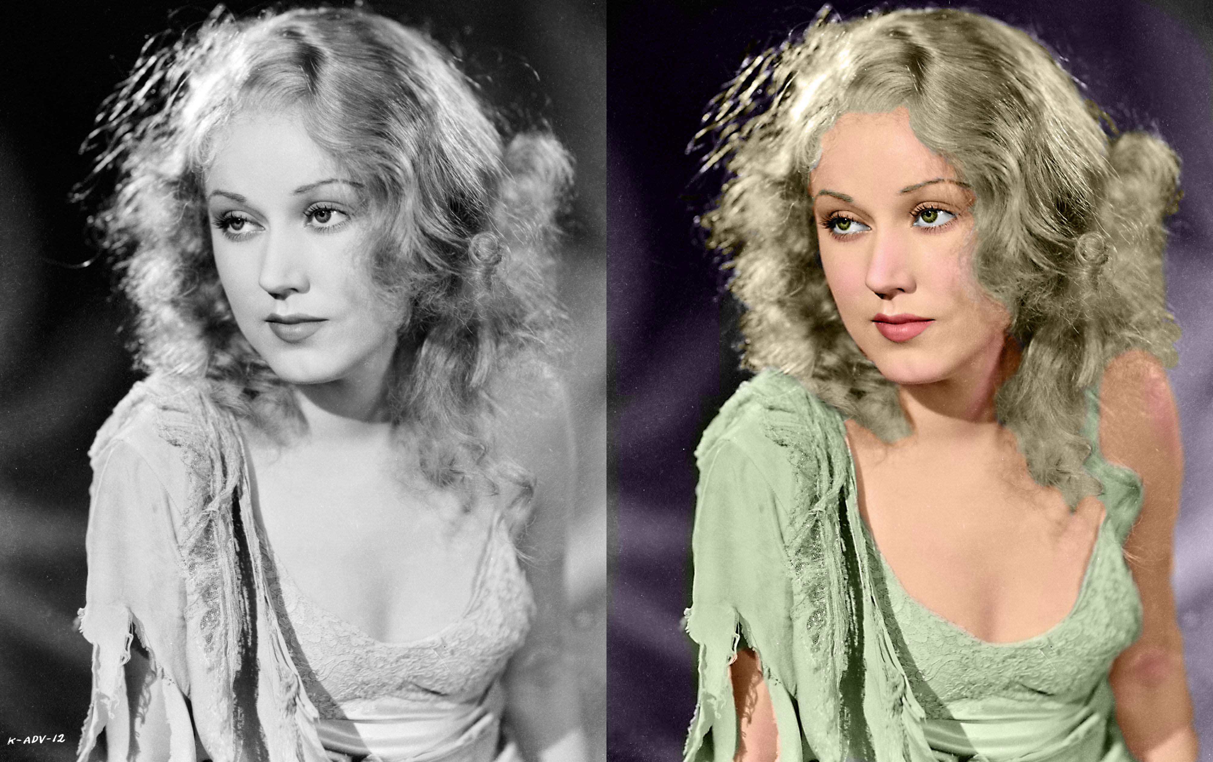 Actress Fay Wray (1907-2004) : Colorization