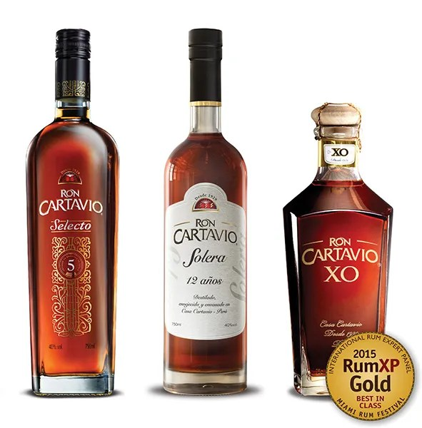 Cartavio aged rum - Fine aged rums from Peru are finding greater distribution in the USA as Ron Cartavio reaches into new markets each month.