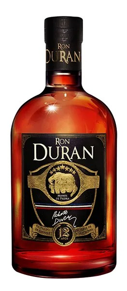 Ron Duran 12 - From his copper column still in Panama, master blender Don Pancho Fernandez has created a masterpiece aged rum of 12 years in honor of famed boxer Roberto Duran.