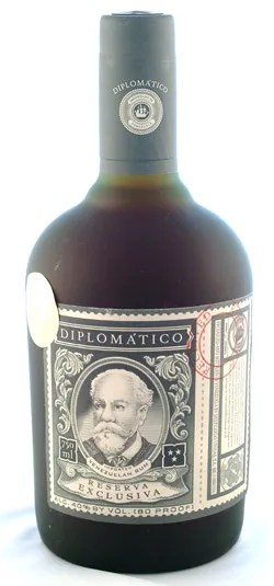 Types of Rum - Diplomatico Reserva Exclusiva premium aged rum