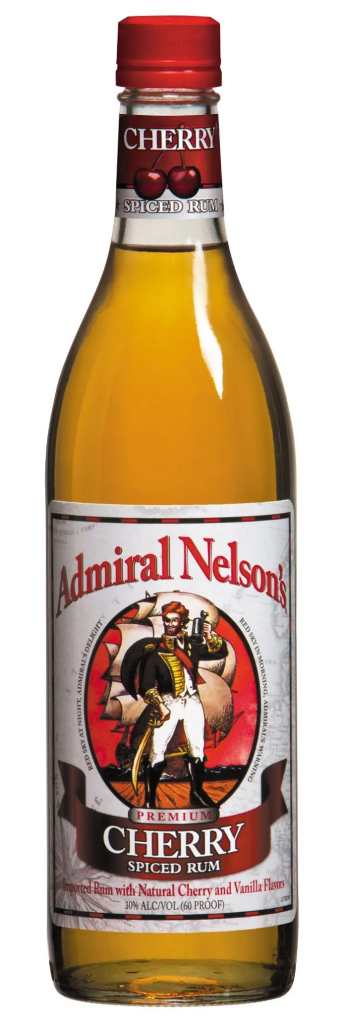 Admiral Nelson Cherry flavored rum from US Virgin Islands