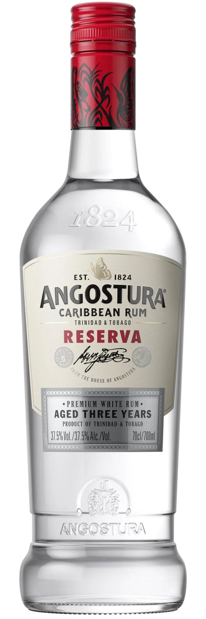 Angostura Reserva white rum from Trinidad