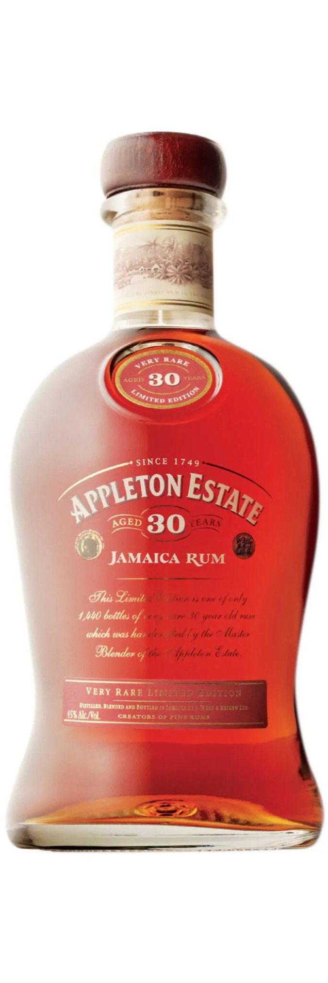 Appleton Estate 30 year old very rare limited edition aged rum from Jamaica, bottled at 45% abv.