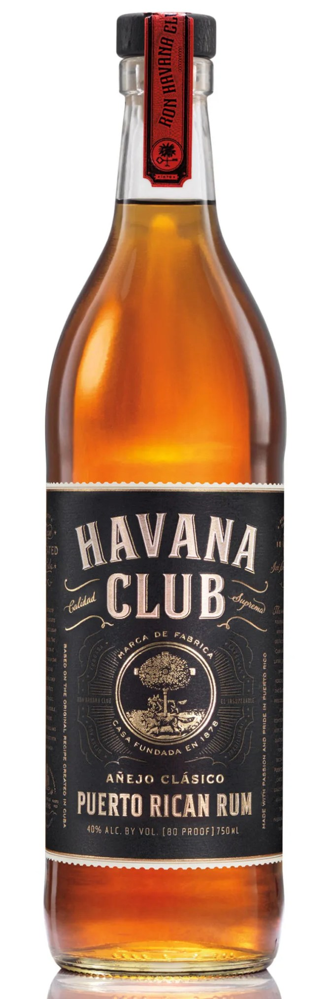 Bacardi produces the US version of Havana Club Añejo Clasico from Puerto Rico based on the original Arechabala family recipe from Cuba.