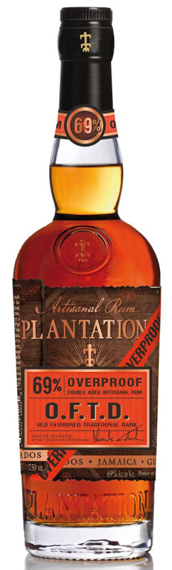 The Old Fashioned Traditional Dark (O.F.T.D.) aged rum from Plantation is a high proof expression developed in collaboration with leading rum experts.