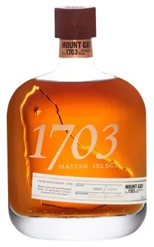 Mount Gay 1703 Master Select aged rum from Barbados