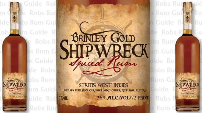 Award-Winning Brinley's Gold Shipwreck Spiced Rum from Saint Kitts