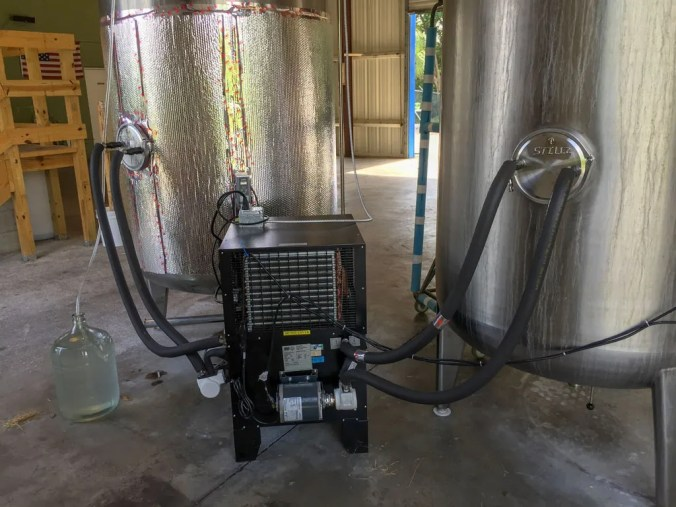 fermentation tank cooler