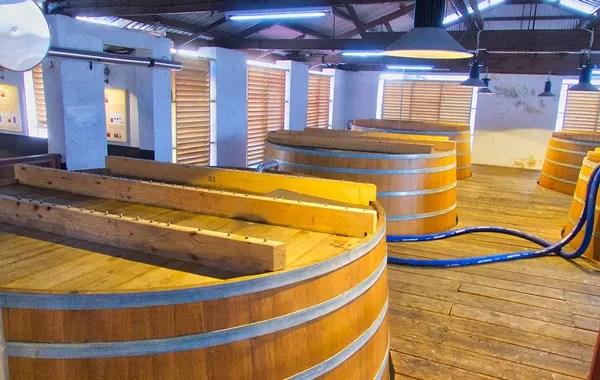 Fermentation Vats at Mount Gay Distillery