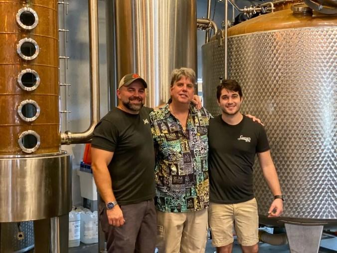 Sam, Rob and Brad at the distillery