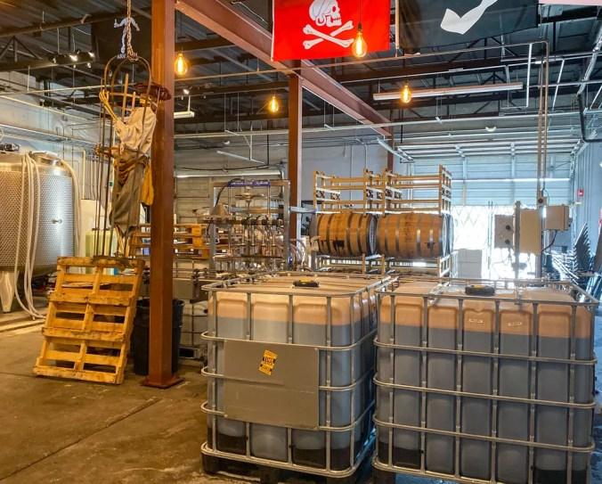 tanks of molasses for fermentation