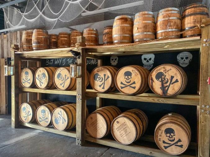 barrels aging rum
