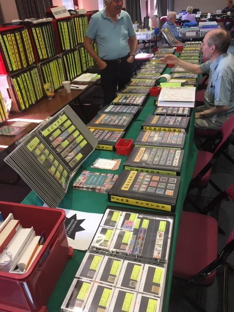 Robin Borwick, Robstine Stamps-Fine Used Stamp Dealer UK, The Potters Bar stamp Fair 2019,