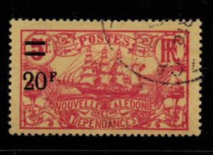 French Cols-New Caledonia SG 136 fine used